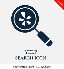 Yelp search icon. Editable Yelp search icon for web or mobile.
