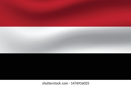 Yemen  flag. Simple vector Yemen flag