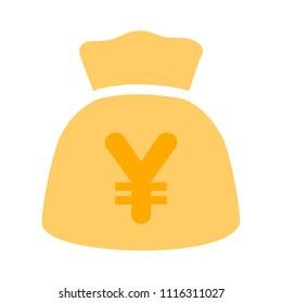 Yen money bag illustration - vector Yen symbol - money bag isolated