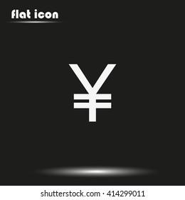 Yen sign icon.