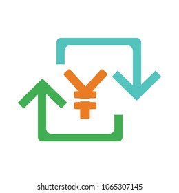Yen sign icon, currency sign - money symbol, vector cash illustration