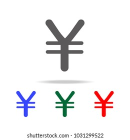 yen sign icon. Elements in multi colored icons for mobile concept and web apps. Icons for website design and development, app development on white background
