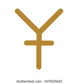 yen symbol. icon. flat illustration of yen symbol. vector icon. yen sign symbol