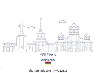 Yerevan Linear City Skyline, Armenia