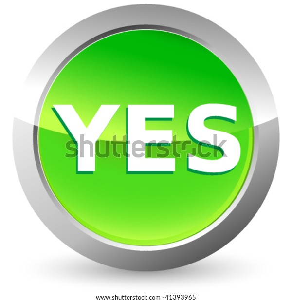 Yes Button Stock Vector (Royalty Free) 41393965