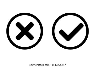 YES or NO button. Vector design, reject, cancel, simple, popular, media, social, user