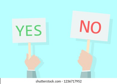 yes no concept vote up