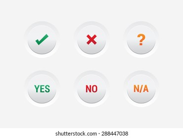 Yes, No & N/A Buttons