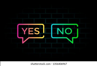 Yes or no vector background template. This graphic with choice symbol. Suitable for vote, like and survey.