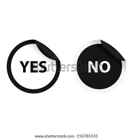 Yes White Color No Black Color Stock Vector Royalty Free 150785531