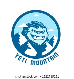 Yeti creature in mountains