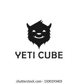 Yeti Cube Logo Design Inspiration Vector Stock