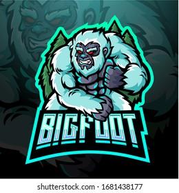 Yeti esport esport logo mascot design