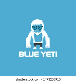 yeti fun character mascot and logo design