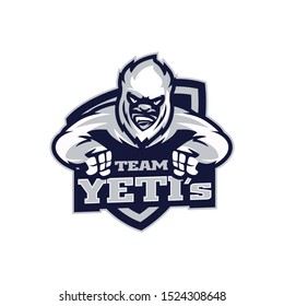 Yeti Ice Sports Logo Vector Template Mascot