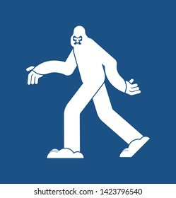 Yeti icon. Bigfoot sign. Abominable snowman symbol. sasquatch