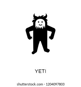 Yeti icon. Yeti symbol design from Fairy tale collection. Simple element vector illustration on white background.