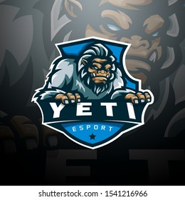 Yeti logo gaming esport vector