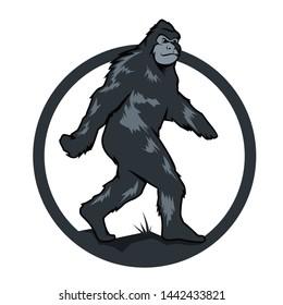 Yeti silhouette logo vector templete