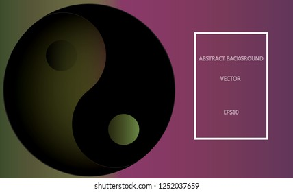 Yin Yang Background with space