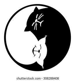 Yin and yang, cats