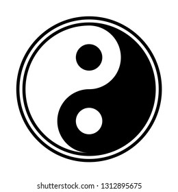 A yin and yang design isolated on a white background