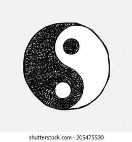 Yin Yang drawing.