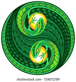 Yin Yang Gecko Lizard Decorative Sign