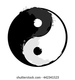 Yin and yang, grunge style.