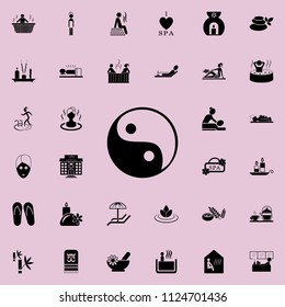 Yin Yang icon. Detailed set of SPA icons. Premium quality graphic design sign. One of the collection icons for websites, web design, mobile app on colored background