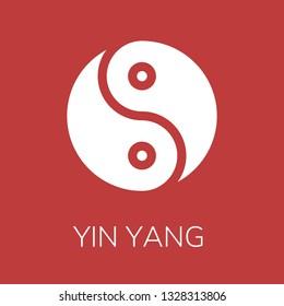 Yin yang icon. Editable  Yin yang icon for web or mobile.