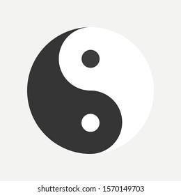 Yin yang icon isolated on white background. Vector illustration. Eps 10.