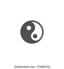 yin yang icon. sign design