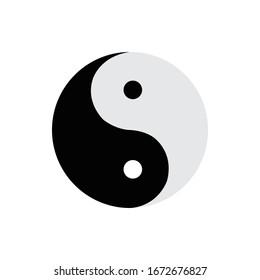 Yin yang icon vector, vector.