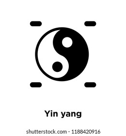 Yin yang icon vector isolated on white background, logo concept of Yin yang sign on transparent background, filled black symbol