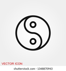 Yin Yang icon vector sign symbol for design