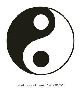 Yin & yang symbol.