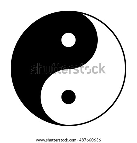 Yin Yang Symbol Chinese Phylosophy Describes Stock Vector Royalty