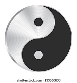 Yin Yang symbol / icon / button