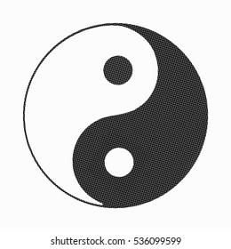 Yin Yang symbol. Icon. Vector.