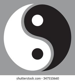 yin yang symbol  - Illustration
