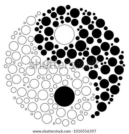 Yin Yang Symbol Made Circles Stock Vector Royalty Free 1010556397