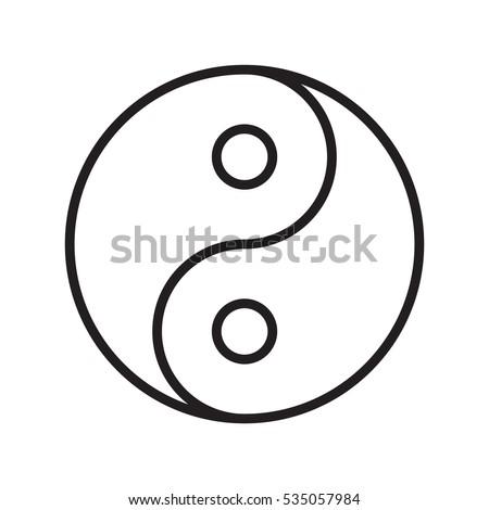Yin Yang Symbol Outline Transparent Vector Stockvector Rechtenvrij