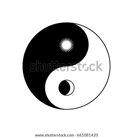 Yin Yang Symbol Sun Moon Stock Vector Royalty Free 661081420