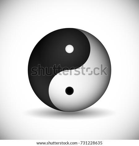 Yin Yang Symbol Unity Harmony Traditional Stock Vector Royalty Free