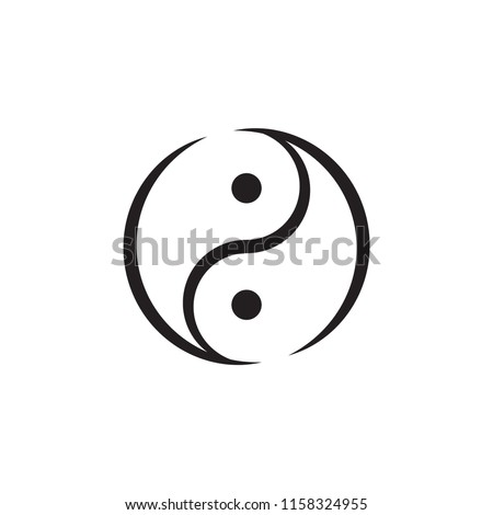 Yin Yang Symbol Vector Drawing Stock Vector Royalty Free