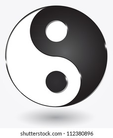 Yin yang symbol. Vector illustration.