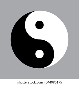 Yin Yang Symbol. Vector illustration