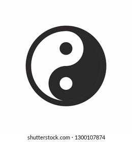 Yin and yang symbol. Yin Yan sign icon vector