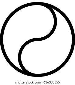 Yin Yang Vector Icon